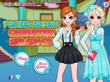Disney Princess Frozen Sisters Elsa and Anna Prom - Games for girls