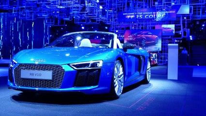 Mondial de l'Automobile à Paris - Audi présente ses nouvelles voitures (version courte)