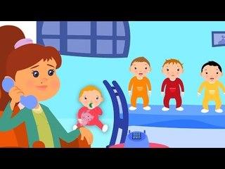 cinco bebês pequenos no português | compilação das rimas de berçário para crianças e bebés
