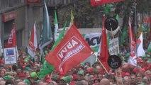 45.000 manifestants présents à Bruxelles selon la police, 70.000 d'après les syndicats