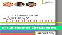Collection Book The Fountas   Pinnell Literacy Continuum: A Tool for Assessment, Planning, and