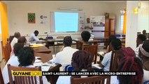 Reportage de ma nièce Alice pour 1ère Guyane Soir - St Laurent, se lancer avec la micro-entreprise