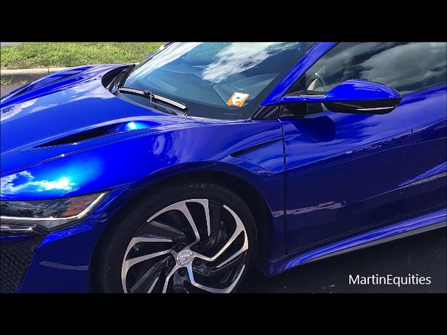 2017 Acura Nsx Test Car In Blue Pearl Video Dailymotion