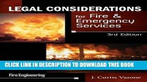 [PDF] Legal Considerations for Fire   Emergency Services Full Online