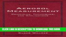 [PDF] Aerosol Measurement: Principles, Techniques, and Applications Full Colection