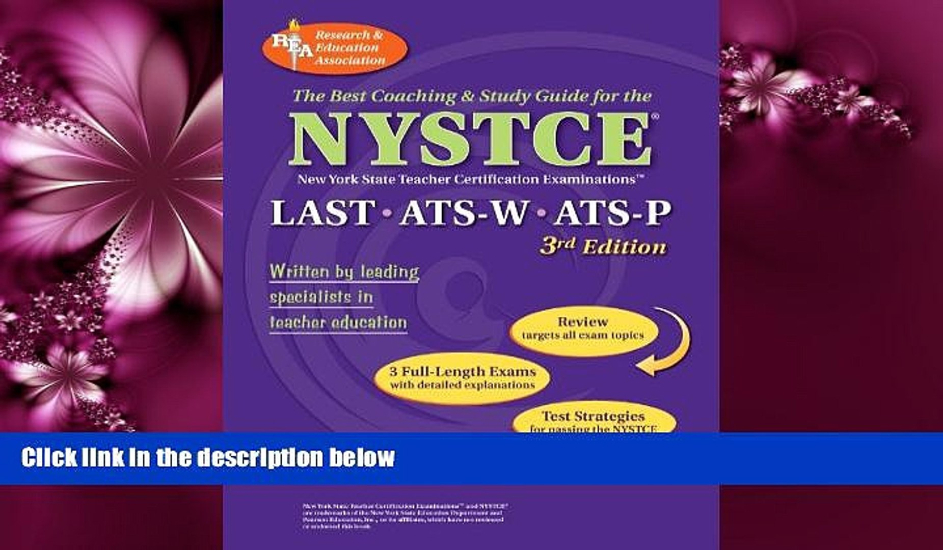 Online eBook NYSTCE LAST, ATS-W, ATS-P (REA) - The Best Test Prep for the NYSTCE: LAST/ATS W   P