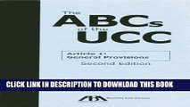 [PDF] The ABCs of the UCC Article 1: General Provisions Full Online