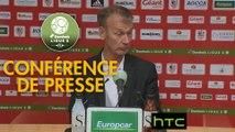 Conférence de presse AC Ajaccio - Stade Brestois 29 (1-1) : Olivier PANTALONI (ACA) - Jean-Marc FURLAN (BREST) - 2016/2017