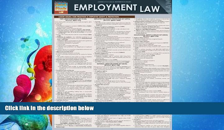 FAVORITE BOOK  Employment Law (Quick Study: Law)
