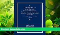 FAVORITE BOOK  Contract Law and Theory: Selected Provisions: Restatement of Contracts and Uniform