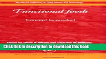 [PDF] Functional Foods: Concept to Product (Woodhead Publishing in Food Science and Technology)