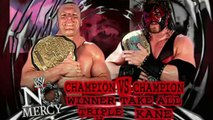 WWE No Mercy 2002 - Kane vs Triple H