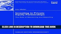 [PDF] Investing in Private Equity Partnerships: The Role of Monitoring and Reporting Popular Online