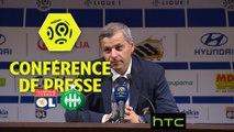 Conférence de presse Olympique Lyonnais - AS Saint-Etienne (2-0) : Bruno GENESIO (OL) - Christophe  GALTIER (ASSE) - 2016/2017