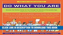 [PDF] Do What You Are: Discover the Perfect Career for You Through the Secrets of Personality Type