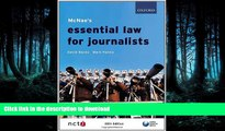 READ PDF McNae s Essential Law for Journalists READ PDF FILE ONLINE
