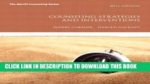 [PDF] Counseling Strategies and Interventions (8th Edition) (Interventions that Work Series)
