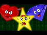 the shapes song | nursery rhymes | learn shapes | scary rhymes | kids videos