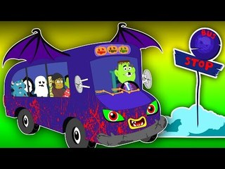 bat wheels on the bus | scary rhymes | nursery rhymes | kids songs | childrens video