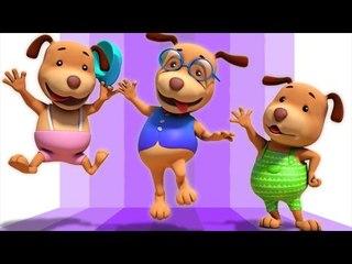 five little dogs | 3d rhymes | baby songs | nursery rhymes | Farmees