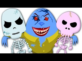 Humpty Dumpty | Five Little Skeletons | Scary Nursery Rhyme for Children And Kids Song