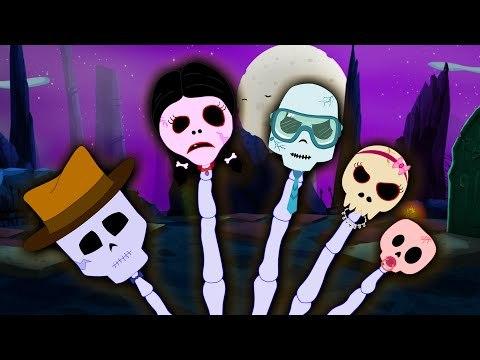 Finger Family   Skeleton Finger Family   Scary Nursery Rhymes
