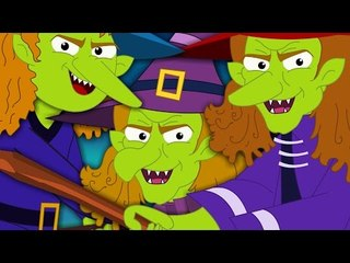 Flying Witches   Scary Nursery Rhymes For Kids And Childrens