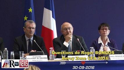 Questions de Roger BONGOS au Ministre Michel Sapin, Gouverneurs BEAC et BCEAO. Réunion à Bercy sur la Zone Franc
