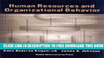 New Book Human Resources and Organizational Behavior: Cases in Health Services Management