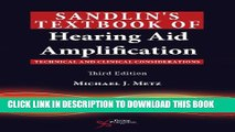 [PDF] Sandlin s Textbook of Hearing Aid Amplification: Technical and Clinical Considerations Full