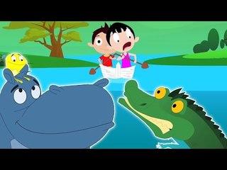 fila de la fila su barco | niños rima compilación | vídeos para bebés | Row Row Row Your Boat |