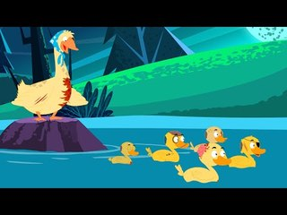 Five Little Ducks | Scary Nursery Rhyme And Songs for Kids