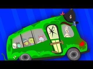 scary wheels on the bus   haunted bus   nursery rhymes   kids songs