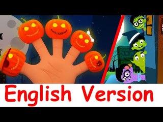 Scary Pumpkin Finger Family | canciones de halloween en Inglés compilación
