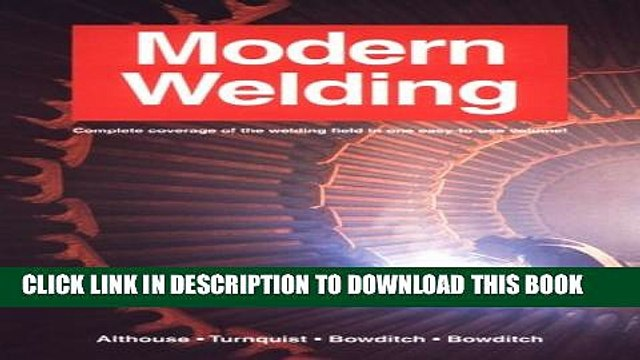 New Book Modern Welding
