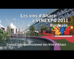 Présentation du stand des Vins d'Alsace à Vinexpo 2011