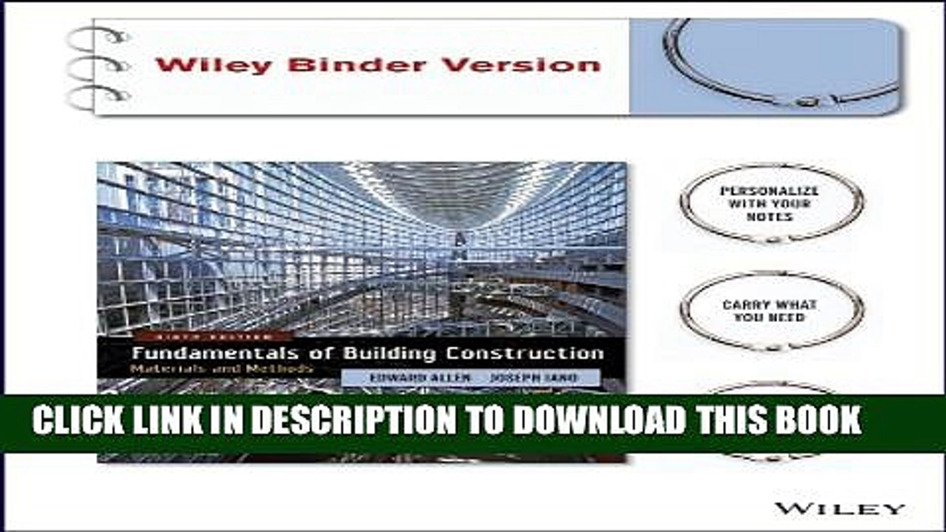 [PDF] Fundamentals of Building Construction: Materials and Methods with  Interactive Resource