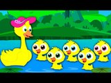 Five Little Ducks | Nursery Rhymes | Kids Songs | Baby Rhymes | Children Videos