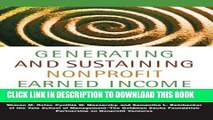 New Book Generating and Sustaining Nonprofit Earned Income: A Guide to Successful Enterprise