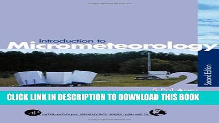 [PDF] Introduction to Micrometeorology, Volume 79, Second Edition (International Geophysics)