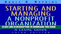 Collection Book Starting and Managing a Nonprofit Organization: A Legal Guide (Wiley Nonprofit