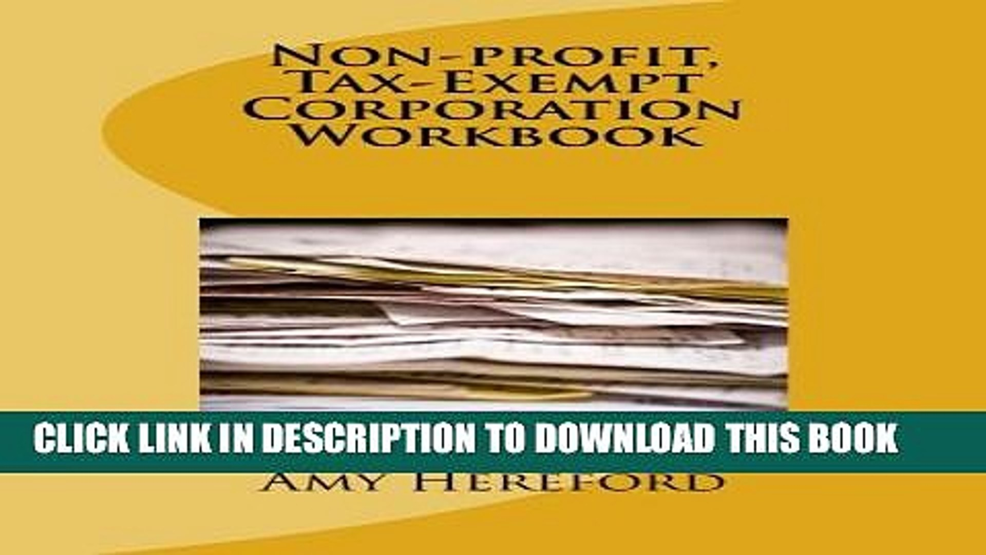 Collection Book Non-profit, Tax-Exempt Corporation Workbook