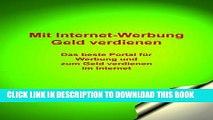 New Book Mit Internet-Werbung Geld verdienen: Das beste Portal für Werbung und zum Geld verdienen