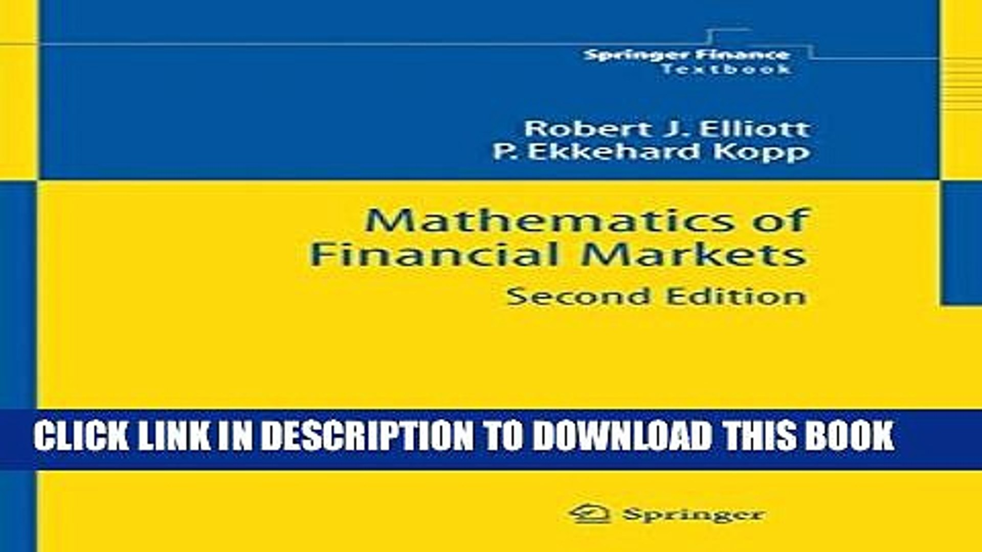 Mathematics of financial markets