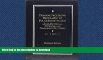 FAVORIT BOOK Criminal Procedure: Regulation of Police Investigation: Legal, Historical, Empirical