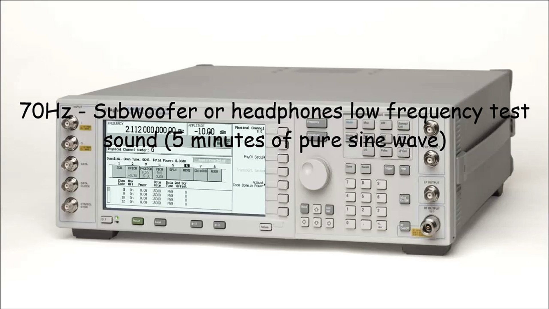 70Hz - Subwoofer or headphones low frequency test sound (5 minutes of pure  sine wave)