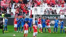 Benfica Captain Luisão Shows His Leadership In Free Kick Intervention