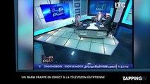 Egypte : Un Imam violemment agressé à coups de chaussure en direct à la télévision (Vidéo)
