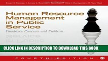 New Book Human Resource Management in Public Service: Paradoxes, Processes, and Problems