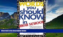 Big Deals  Words You Should Know In High School: 1000 Essential Words To Build Vocabulary, Improve